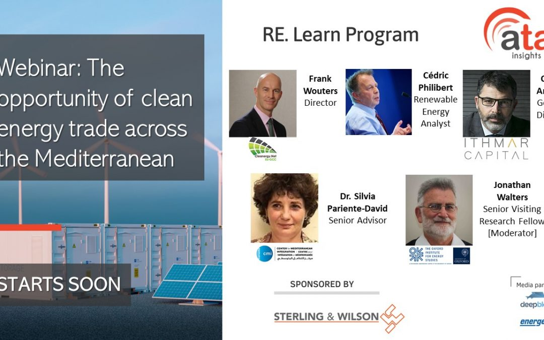 Recording and presentations: The opportunity of clean energy trade across the Mediterranean