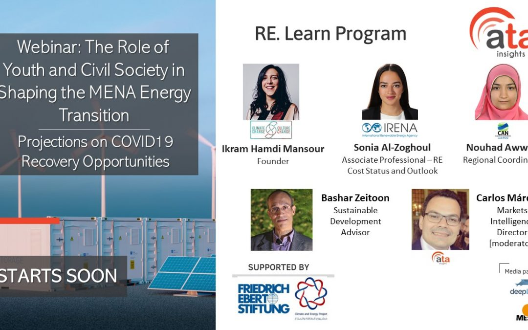 Recording and presentations: The Role of Youth and Civil Society in Shaping the MENA Energy Transition – Projections on COVID19 Recovery Opportunities
