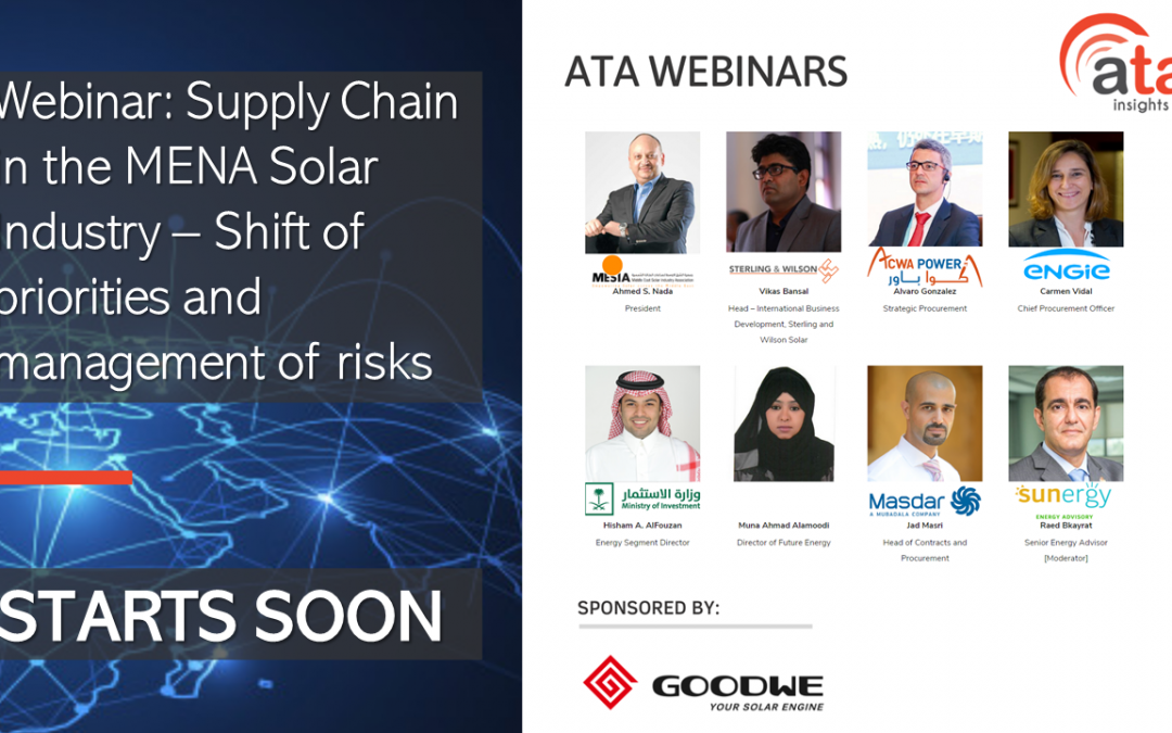Recording and presentations: State of the art digitalization and telecommunication technologies [5G] in MENA for fully optimized renewable energy assets