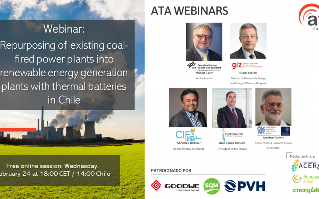 Recording and presentations: From brown to green: repurposing coal fired power plants, case of Chile