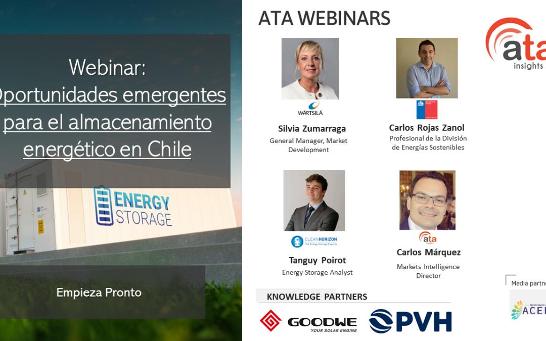 Materiales del webinar: Oportunidades emergentes para el almacenamiento energético en Chile